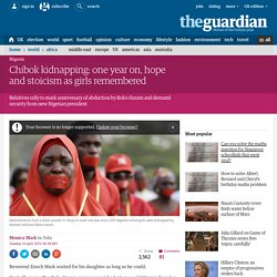 Chibok kidnapping: one year on, hope and stoicism as girls remembered