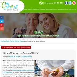 Kidney Care for the Senior at Home