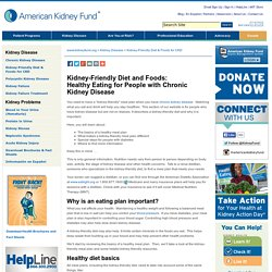 Kidney-Friendly Diet & Foods for CKD - American Kidney Fund