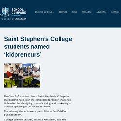 Saint Stephen's College students named 'kidpreneurs'