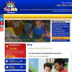 Top Kids Academy Fall Registration Now Open