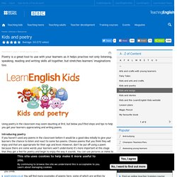 Kids and poetry