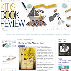 Kids' Book Review: Review: The Wrong Boy