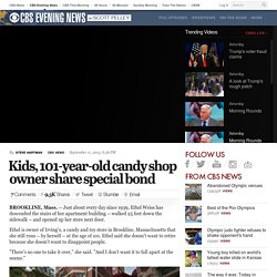 Kids, 101-year-old candy shop owner share special bond