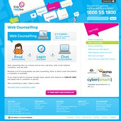 Kids Helpline - Web Counselling