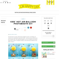 Kids' Hot Air Balloon Photobooth DIY