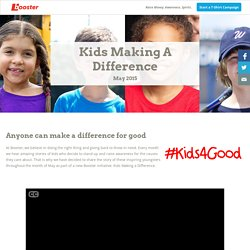 Kids Making a Difference - Booster
