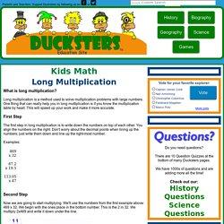 Kids Math: Long Multiplication