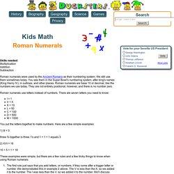 Kids Math: Roman Numerals