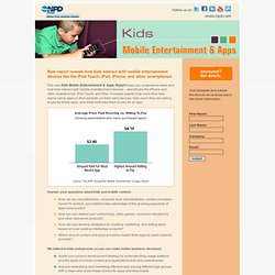 Kids Mobile Entertainment & Apps
