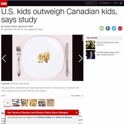 U.S. kids outweigh Canadian kids, says study