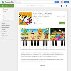 Kids Piano Melodies - Apps on Google Play