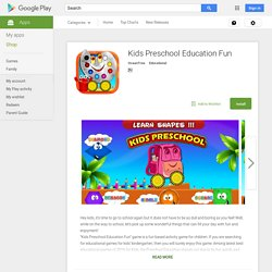 Kids Preschool Education Fun