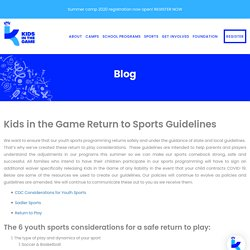 Kids in the Game Return to Sports Guidelines