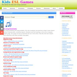 Free Song Worksheets for Young Kids