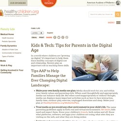 Kids & Tech: Tips for Parents in the Digital Age