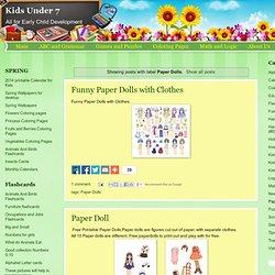 Kids Under 7: Paper Dolls