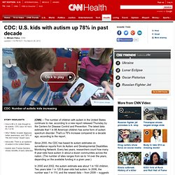 CDC: U.S. kids with autism up 78% in past decade