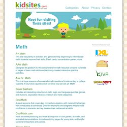 KidSites.com - Math Sites for Kids