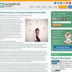 New Research on Training Working Memory Skills