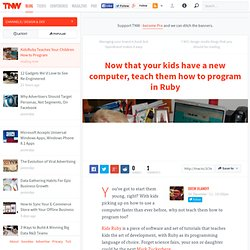 KidsRuby Teaches Your Children How to Program
