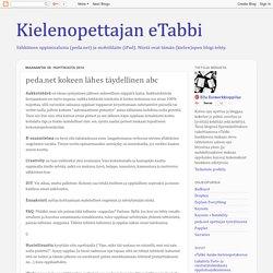 Kielenopettajan eTabbi: peda.net kokeen lähes täydellinen abc