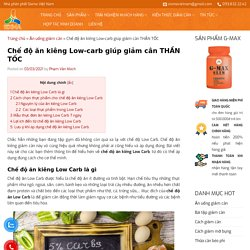 Chế độ ăn kiêng Low-carb giúp giảm cân THẦN TỐC - SIXMA
