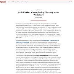Galit Kierkut, Championing Diversity in the Workplace