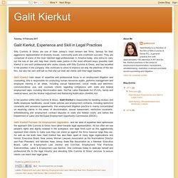 Galit Kierkut, Experience and Skill in Legal Practices