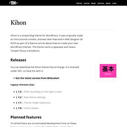 Kihon | TDH.me
