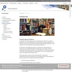 Hvad er kildekritik? – Københavns Universitet