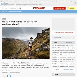 Kilian Jornet publie son allure sur semi-marathon
