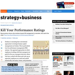 Kill Your Performance Ratings