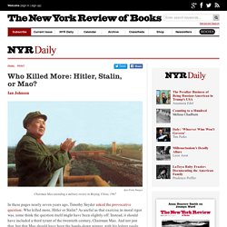 Who Killed More: Hitler, Stalin, orMao?