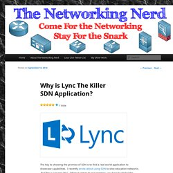 Why is Lync The Killer SDN Application?