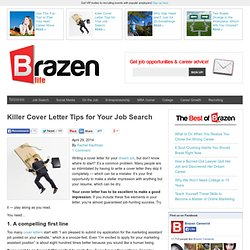 Killer Cover Letter Tips for Your Job Search