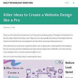Killer Ideas to Create a Website Design like a Pro