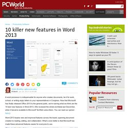 10 killer new features in Word 2013