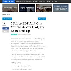 7 killer PDF add-ons you wish you had and 13 to pass up