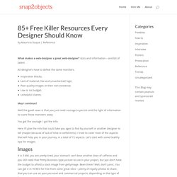 85+ Free Killer Resources Every Designer Should Know | snap2obje