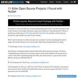 11 Killer Open Source Projects I Found with NuGet