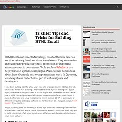 12 Killer Tips and Tricks for Building HTML Email