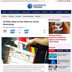 29 Killer Ways to Use Video for Social Networking