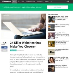 25 Killer Websites that Make You Cleverer