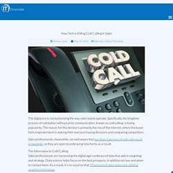 How Tech Is Killing Cold Calling in Sales – IT Chronicles