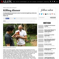 Killing dinner - Food traditions