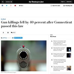 Gun killings fell by 40 percent after Connecticut passed this law