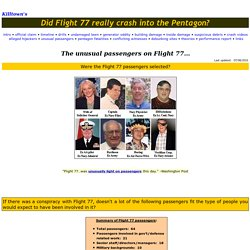 Killtown's:  Did Flight 77 really crash into the Pentagon? - Unusual passengers...