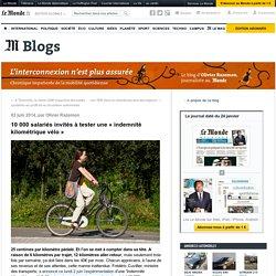 10 000 salariés invités à tester une «indemnité kilométrique vélo»