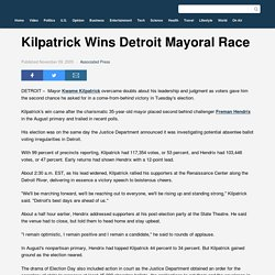 Kilpatrick Wins Detroit Mayoral Race